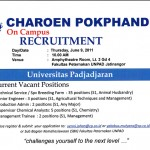 Charoen Pokphand on Campus Recruitment